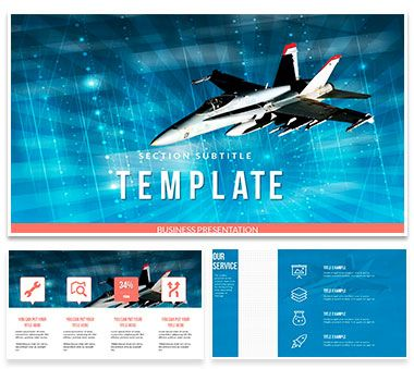 Military Airplane Powerpoint Template Presentation Powerpoint