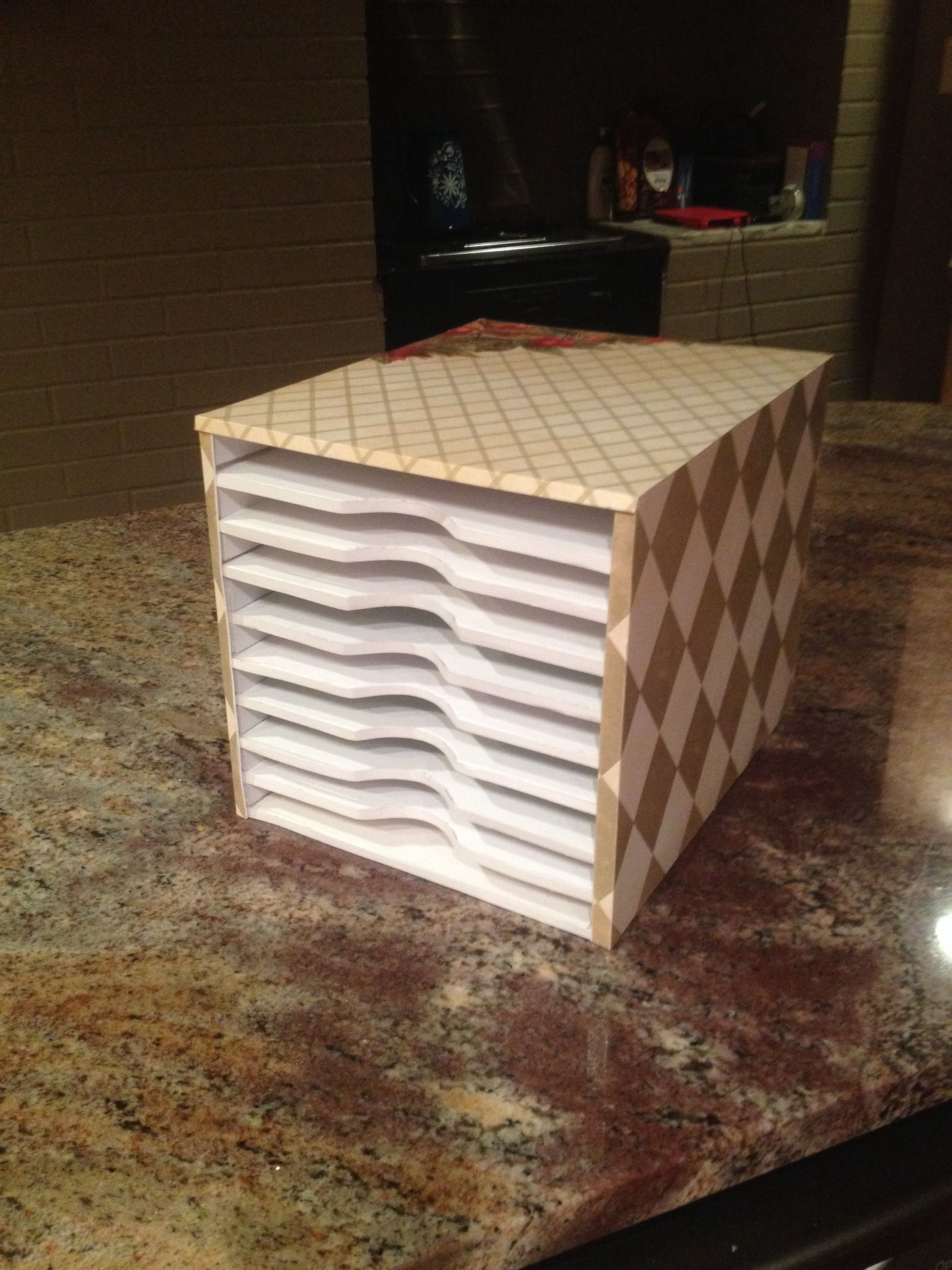 Diy Paper Storage I Needed 8 1 2 X 11 Paper Storage For A