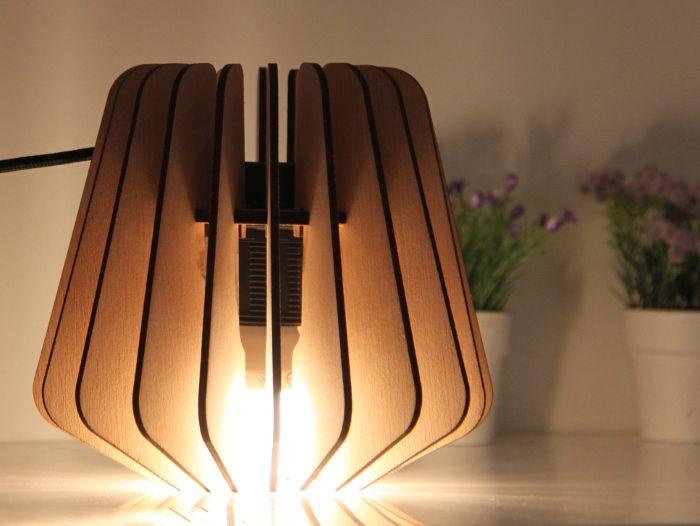 oskar une lampe modulable et co design laser cut wood