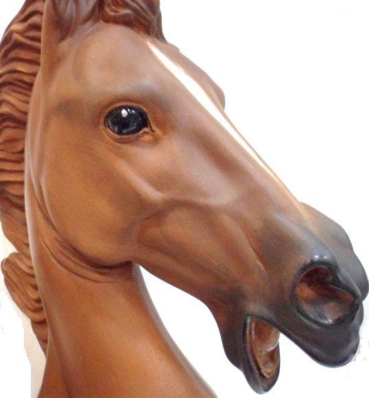Cabeça de cavalo - peça em gesso