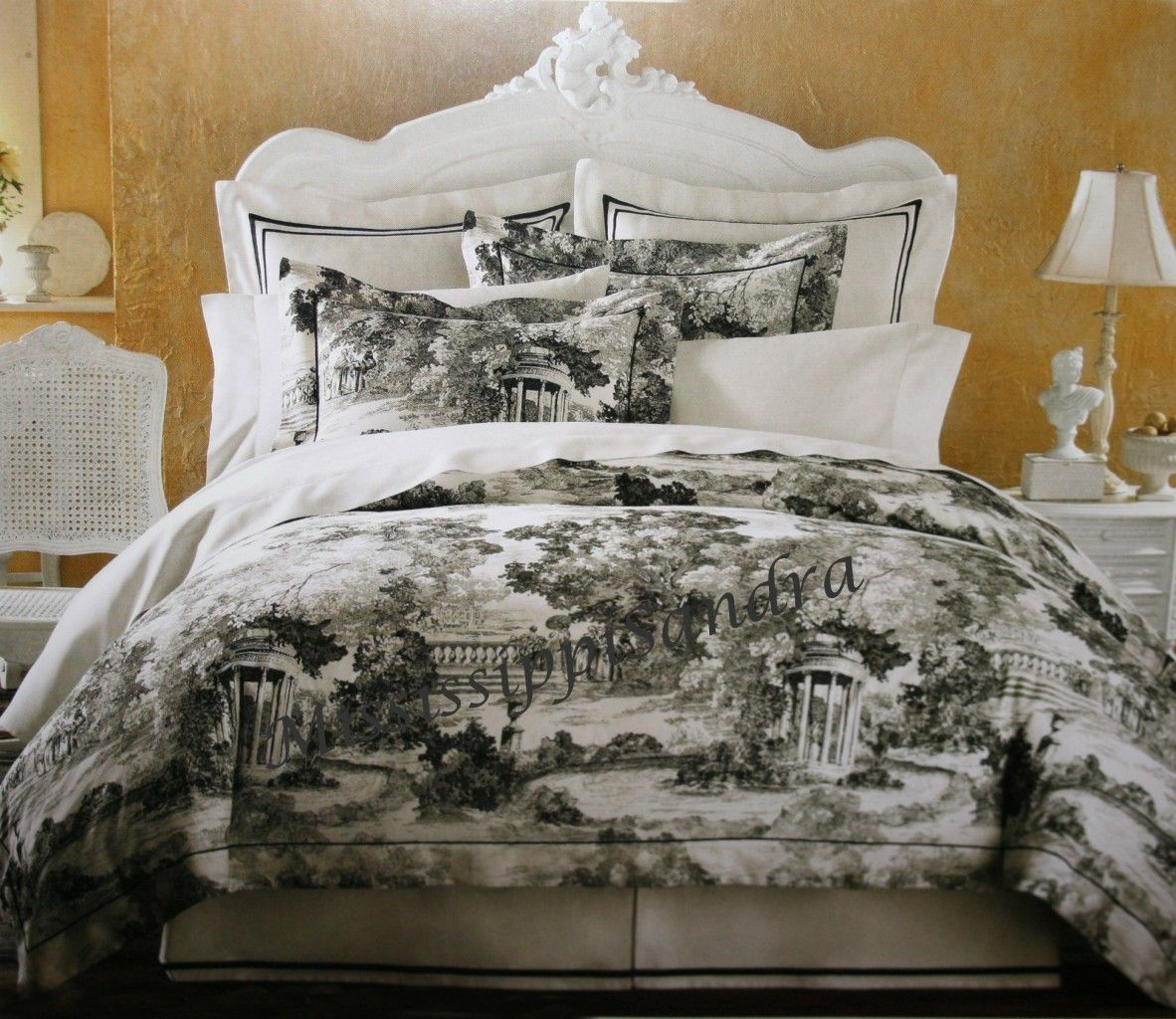Black And White Toile Bedding Toile Bedding Comforter