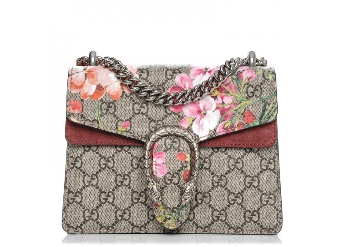f6612eca Check out the Gucci Dionysus Blooms Shoulder Monogram GG Supreme Floral  Print Mini Brown/Antique Rose available on StockX