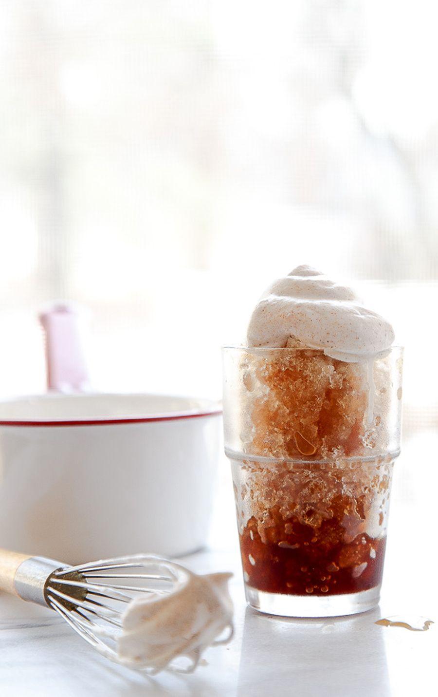 Espresso granita + chai whip: http://www.stylemepretty.com/living/2015/07/16/summers-sweetest-cool-coffee-treats/