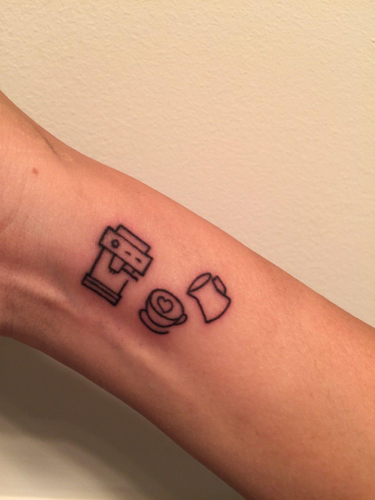 My little coffee machine & coffee cup tattoo :) ☕☕
