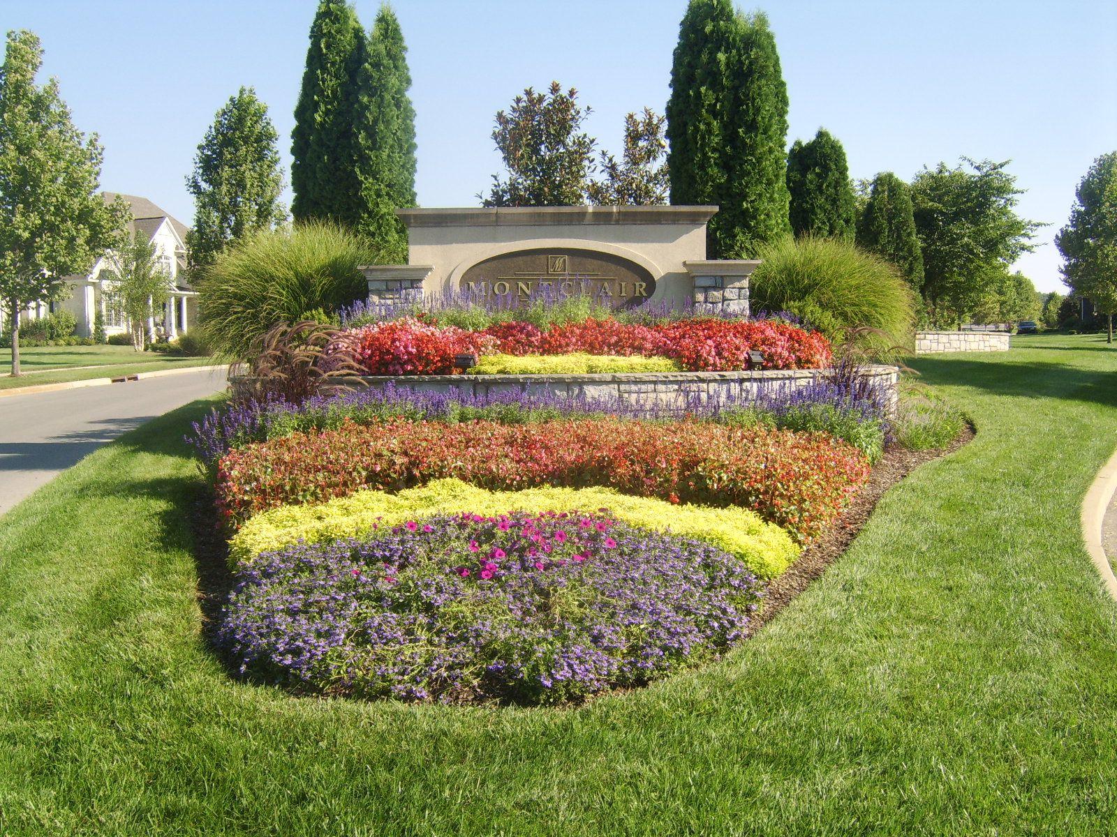 Nashville Landscaping Subdivision Entrances Entrance Gates Grand Sign Commercial Landscape Design