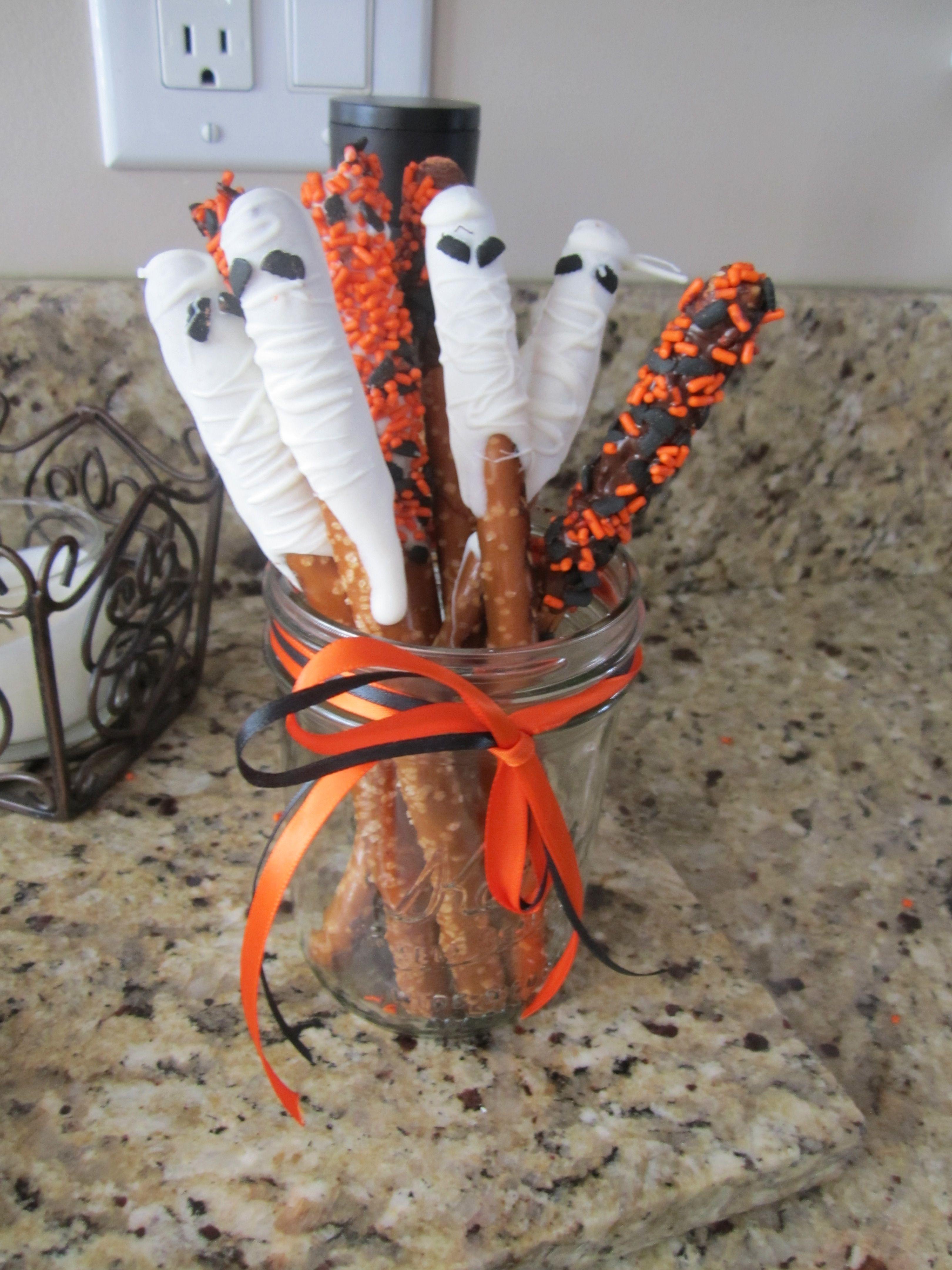 Pretzel Rods For Halloween