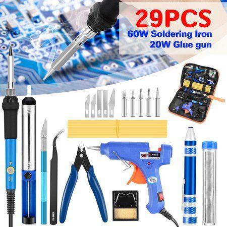 Electric Soldering Iron Gun Adjustable Temperature Welding Tool Set 60W 110//220V