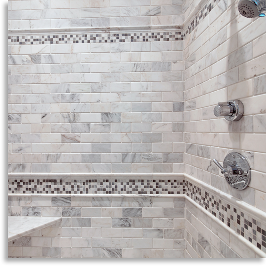 4 x 6 shower design. Chapter 18  Mozart s Mosaics 3 x 6 beveled field tile and 1