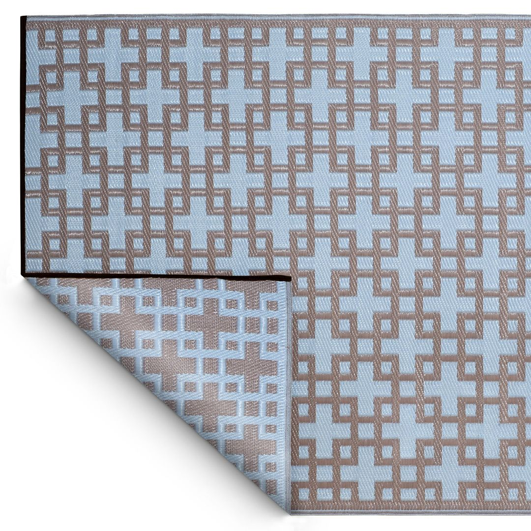 Lightweight Easily Transported Makes This Eco Friendly Powder Blue Rug A Favorite For