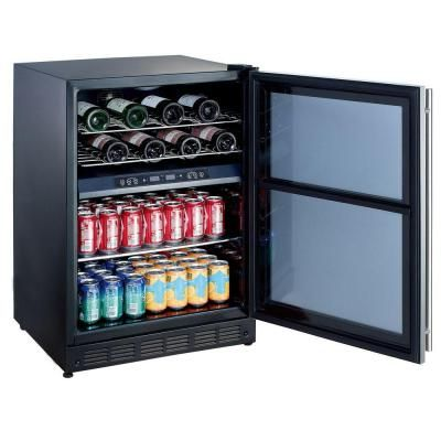 Magic Chef 16 Bottle 77 Can Dual Zone Wine And Beverage Cooler Mcwbc77dzc The Home Depot Wine Coolers Drinks Beverage Cooler Magic Chef