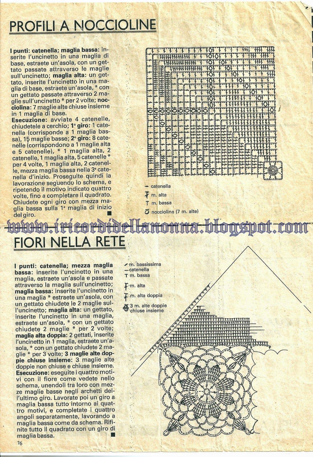 Una bella serie di quadrati e relativi schemi da eseguire  all'uncinetto,  per realizzare delle bellissime copertine, splendide tovaglie, c...