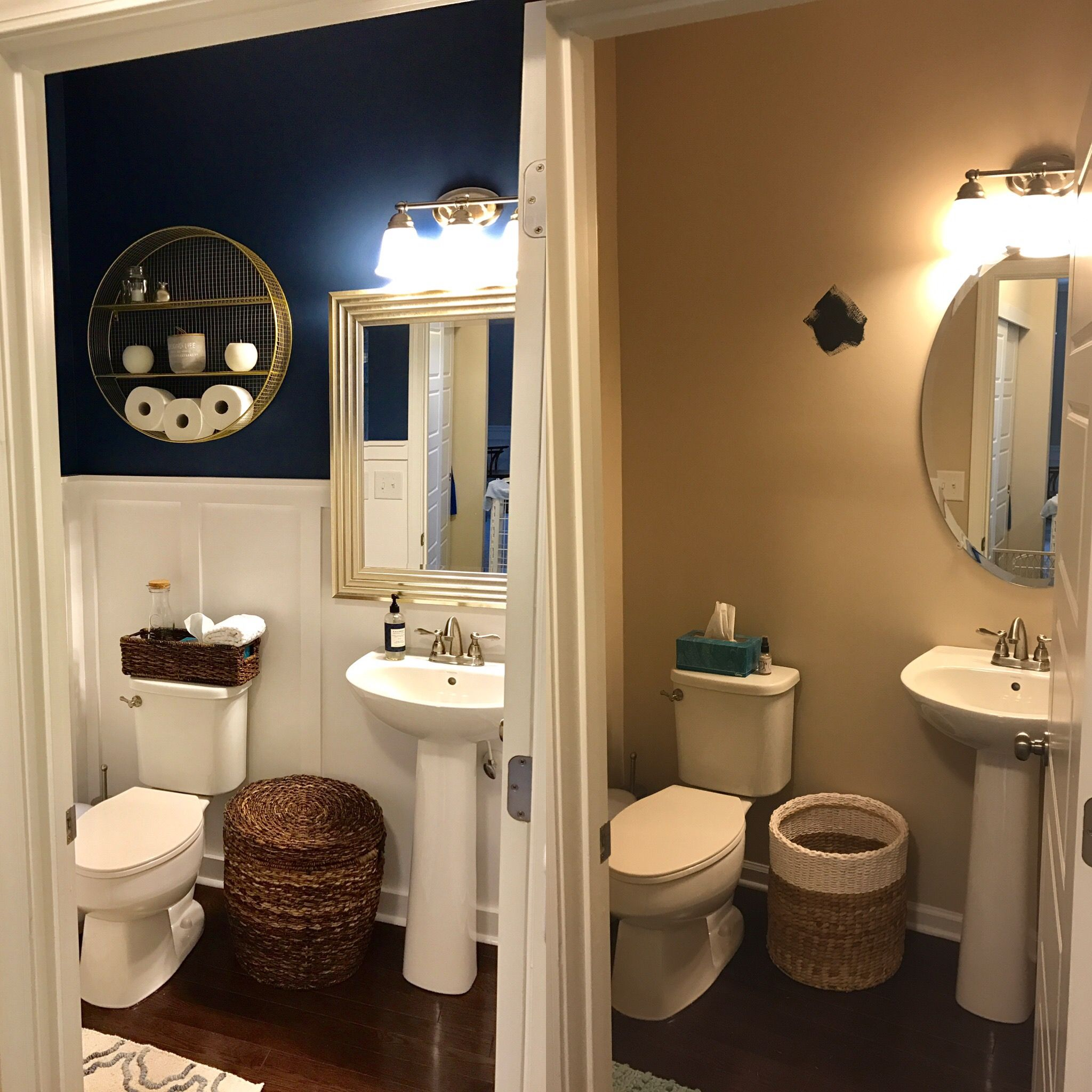 Powder Room Makeover, Before And After! Board And Batten