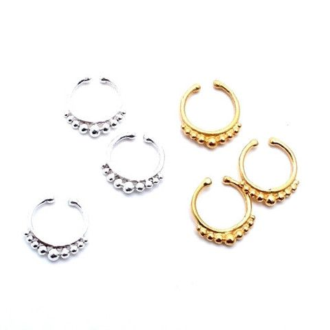 Real Nose Ring Cuff