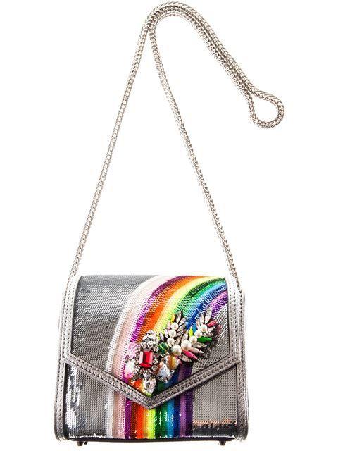 Shourouk Sequin Rainbow 'Daktari' Shoulder Bag