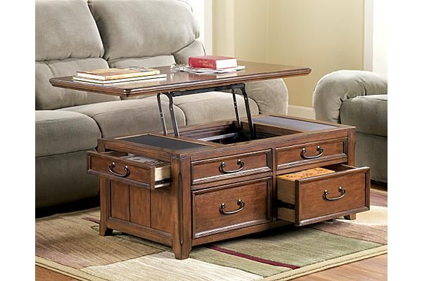 The Woodboro Lift Top Coffee Table From Ashley Furniture Homestore