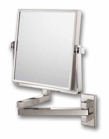 Double Arm Brushed Nickel 9 1 2 X 11 3 4 Wall Mirror 66978
