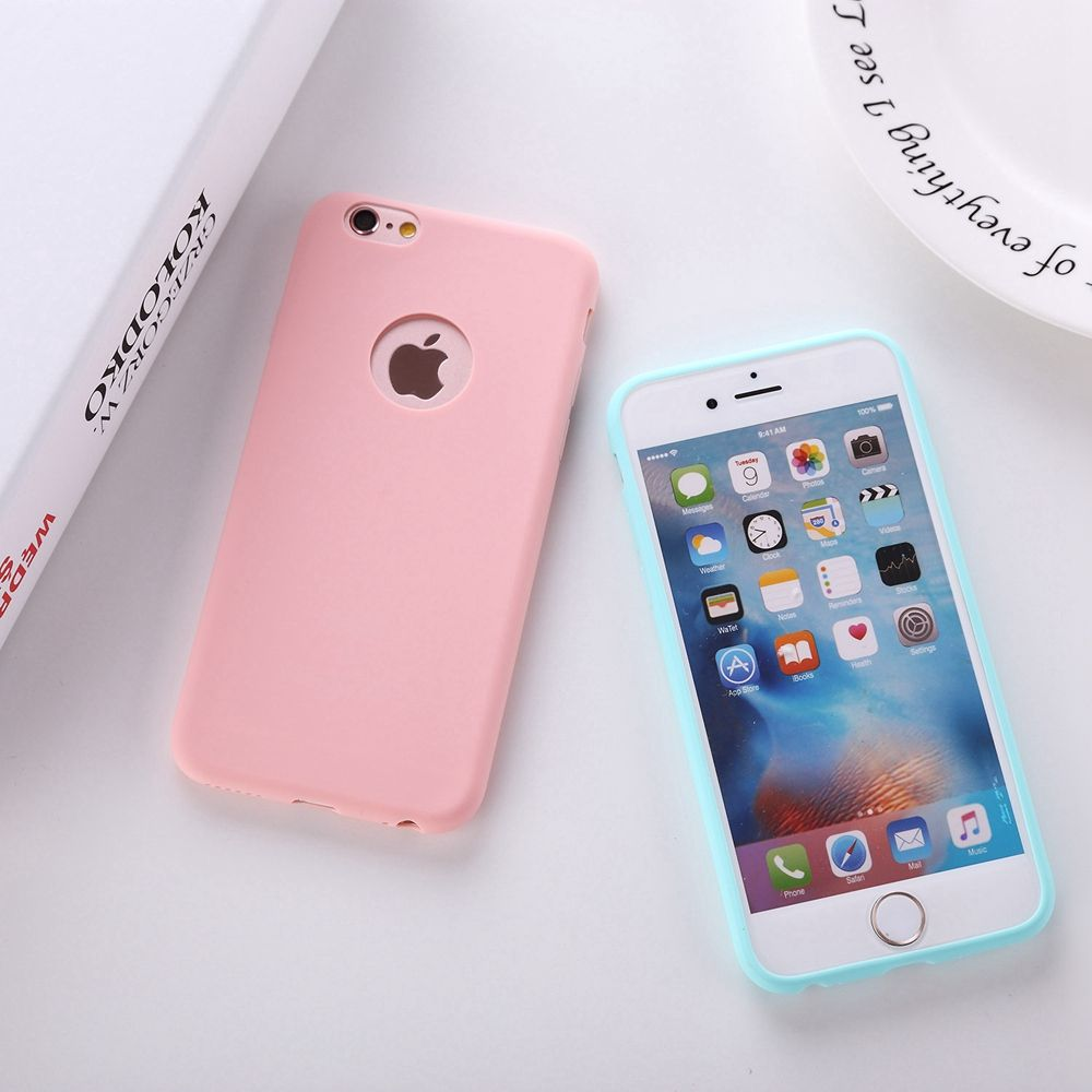 Solid Candy Color Matte Skin Case for iPhone 6S TPU Rubber Soft Back ...