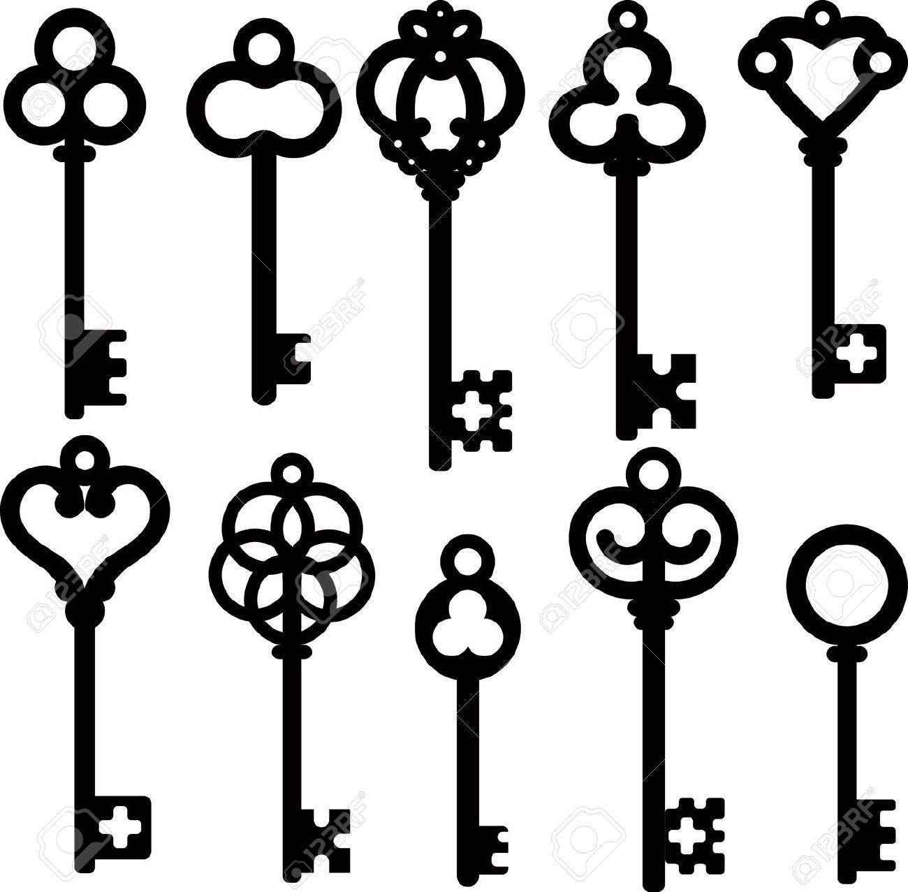 antique skeleton keys crafts pinterest tatoo y llaveros rh pinterest es skeleton key clipart free download skeleton key clipart free vector