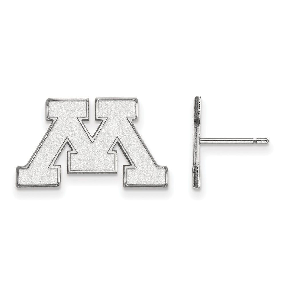 Sterling Silver LogoArt University of Minnesota Small Post Earrings