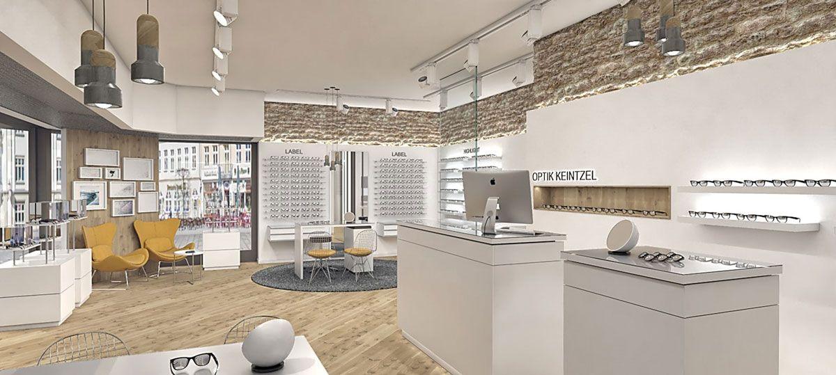 optical shop design | optiker ladenbau. ziel dieser gestaltung war ... - Steinwand Design