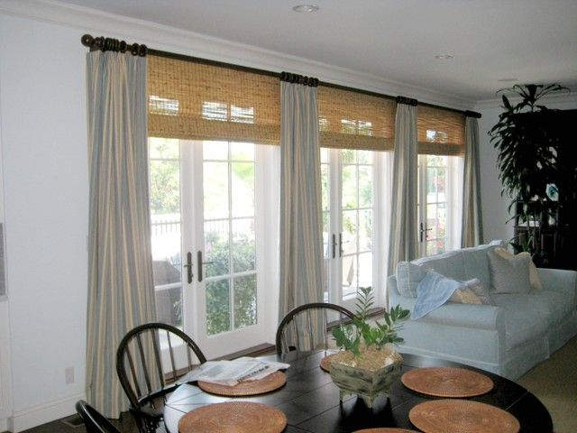 Draperies And Curtains Bay Window With Images Family Room