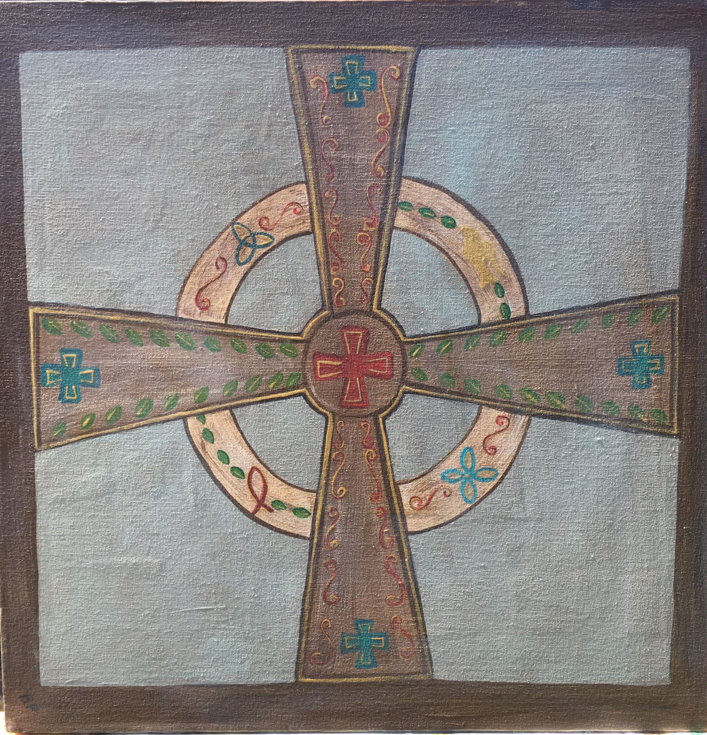 Original 20x20 Gallery Canvas Celticantiqueold World Cross With