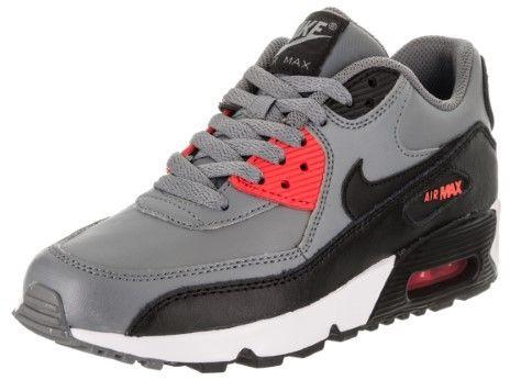 a95d6548d7e Nike Air Max 90 LTR (GS) Cool Grey Black Max Orange Running Shoe 6.5 Kids US