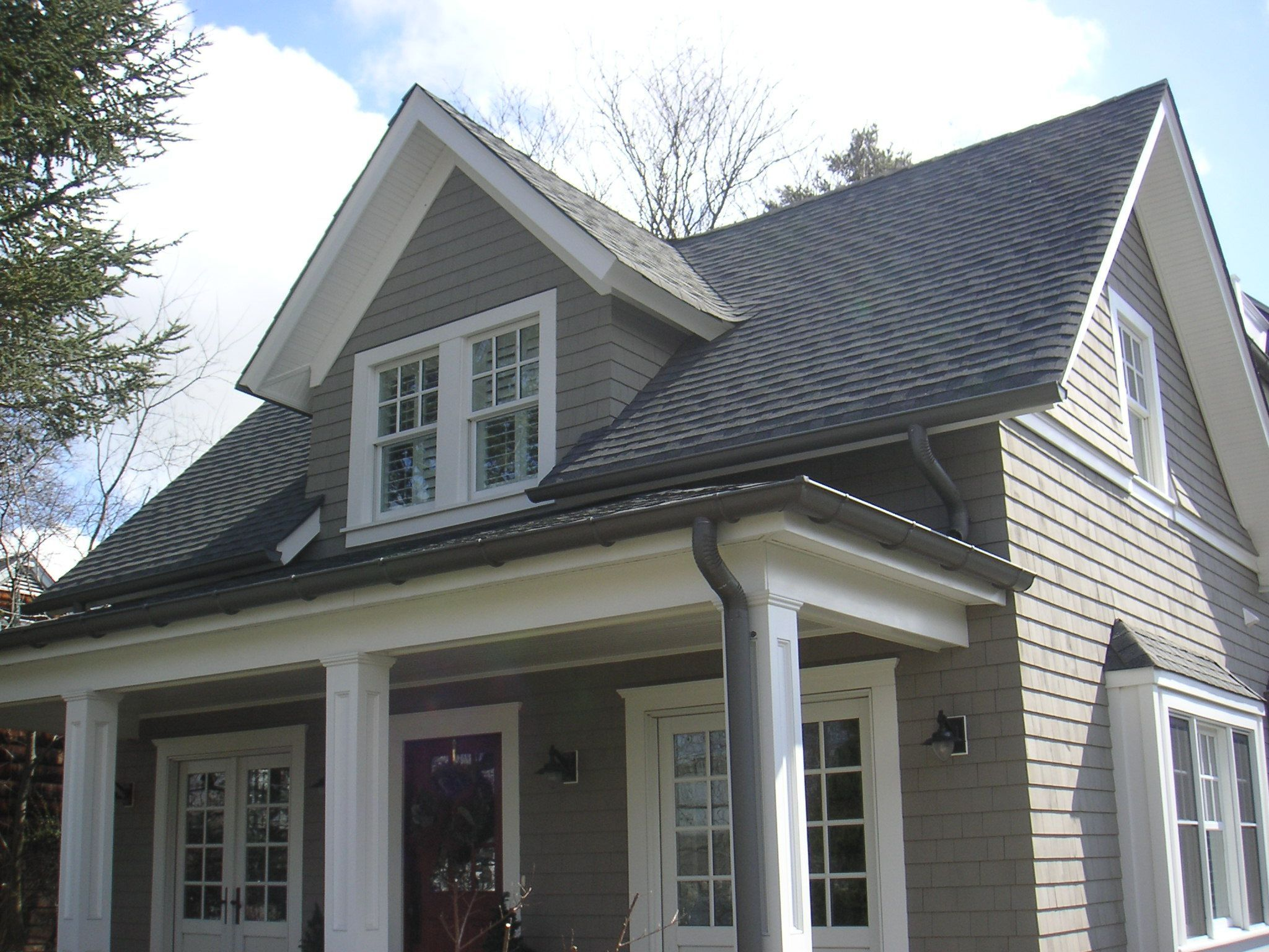 Inspiring Bronze Gutters 2 Gray House With Bronze Gutters Gray House Exterior House Exterior Grey Houses