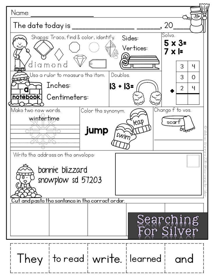 35+ Second grade morning work ideas in 2021