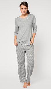 Pijama En Gris Vestidos De Mujer Coleccion De Vestidos Ropa