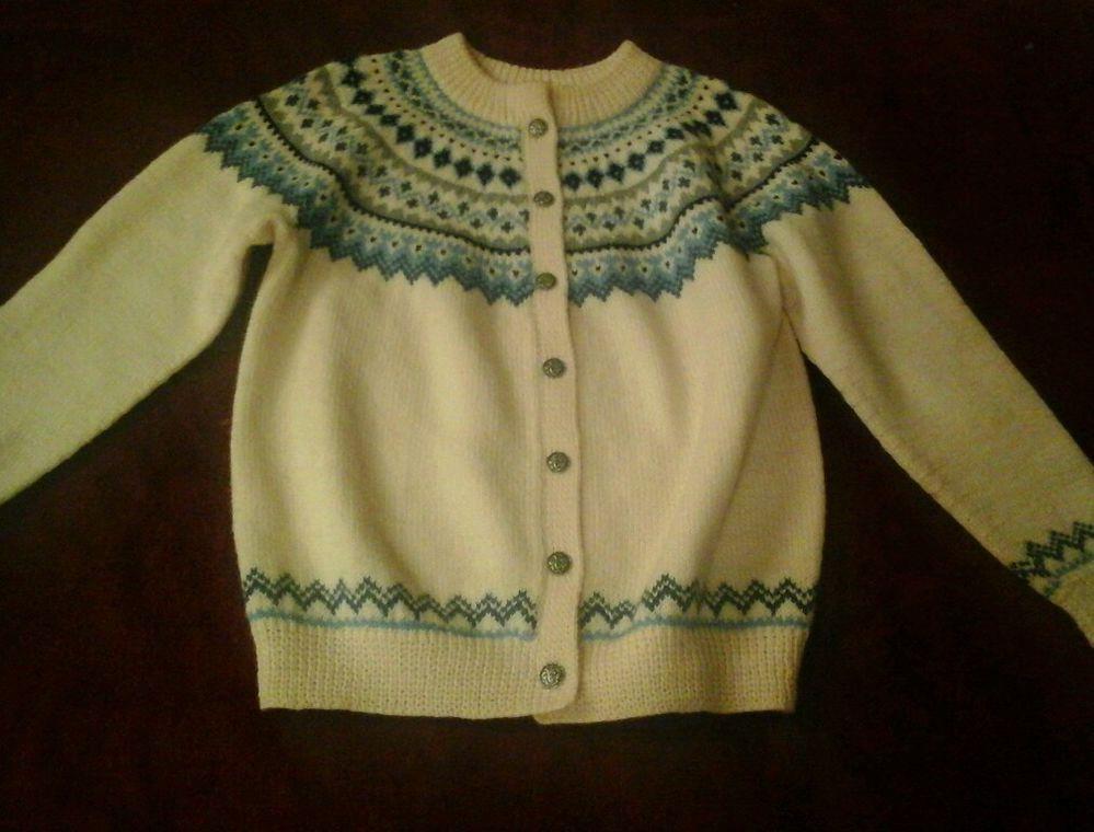 Dale Of Norway  Women's Wool  Norwegian Sweater Pewter Buttons See Measurements #DaleofNorway #Cardigan