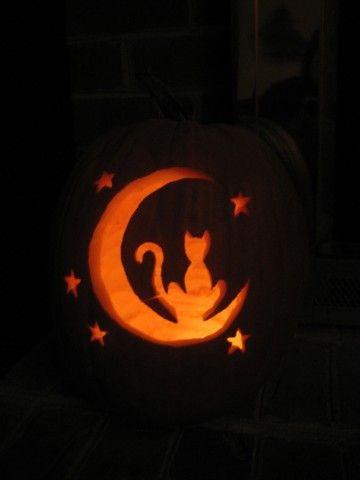 Black Cat Fall My Favorite Season Pumpkin Carving Cat