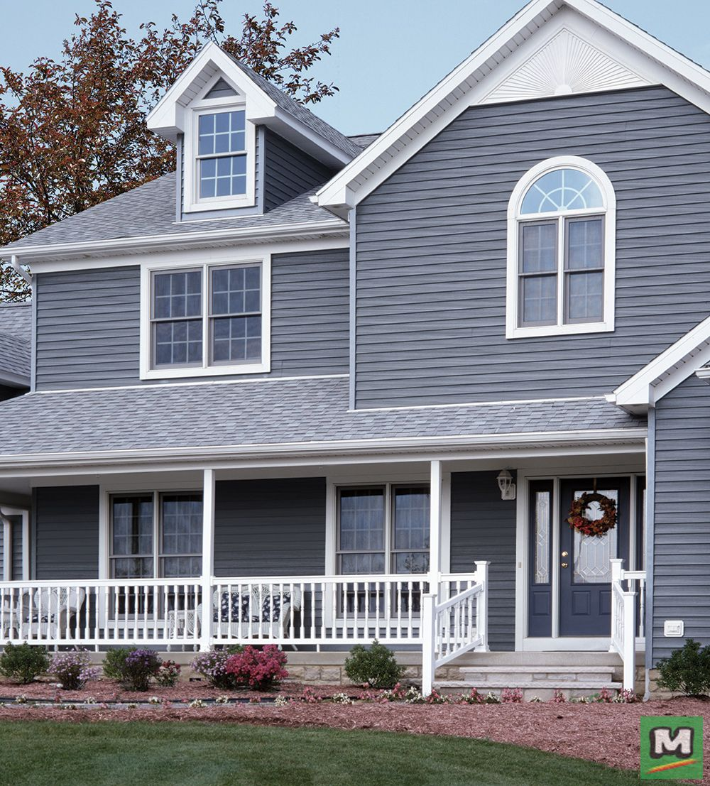 Cedar Creek Vinyl Siding Is An Affordable Option Built To Withstand The Elements Its Unique Linelock Panel Vinyl Siding Wood Vinyl Siding House In The Woods