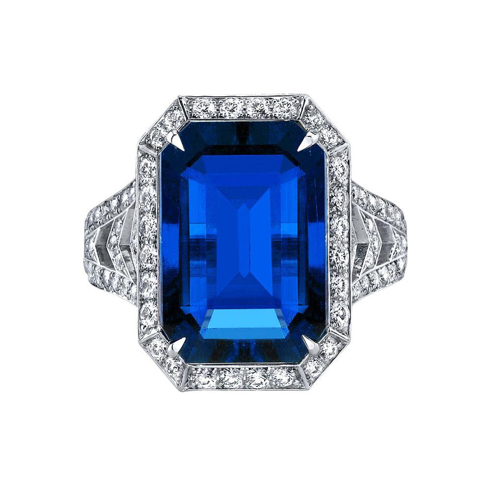 robert procop emerald cut sapphire ring emerald