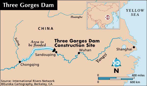 Three Gorges Dam Project Three Gorges Dam Map Dam