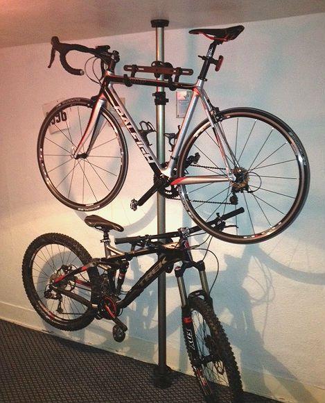 Storage Floor To Ceiling Bike Stand