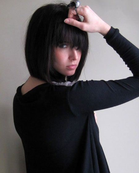 Super 1000 Images About Straight Across Bangs On Pinterest Short Hairstyles Gunalazisus