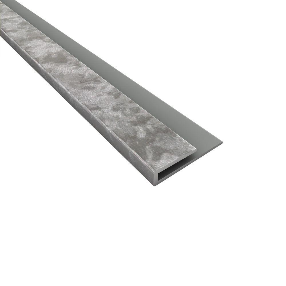 Fasade 4 Ft Vinyl Gloss White J Trim 160 00 The Home Depot In 2020 Galvanized Steel Steel Backsplash Backsplash Panels
