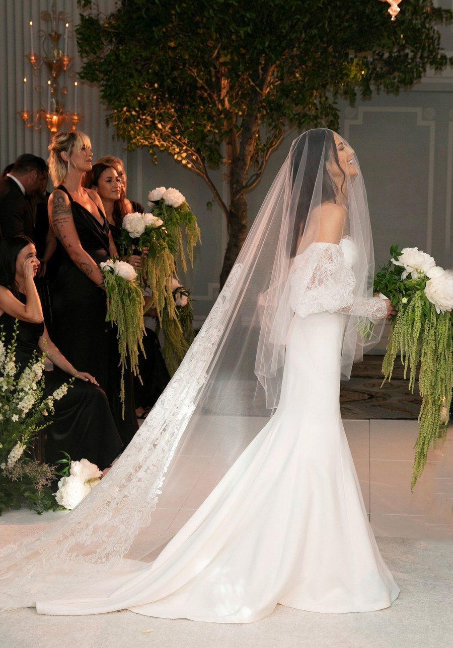 Stylist Dani Michelle Wore Four Dresses To Her Wedding At Casa Del Mar Celebrity Wedding Dresses Wedding Dresses Vera Wang Vogue Wedding