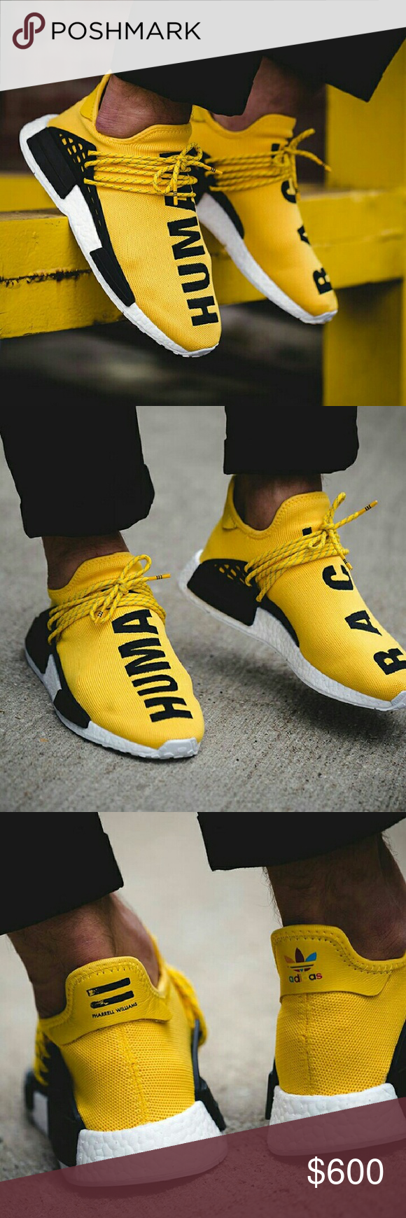 "Adidas X Pharrell ""HUMAN RACE"" NMD Coming from authorized Retailer 100% Authentic Very Limited!! Adidas X Pharrell HU NMD Men's Size 9.5 (Message me for better $$) adidas Shoes Sneakers"