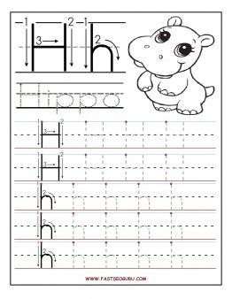 Free Printable Letter H Tracing Worksheets For Preschool Free Writing Practice Worksheets For Alphabet Worksheets Preschool Preschool Writing Preschool Letters Printable alphabet tracing worksheets h
