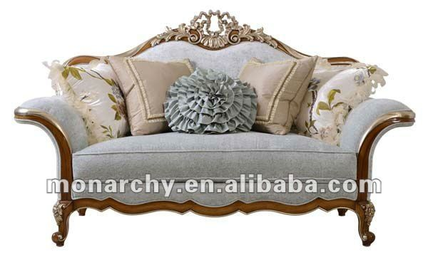 V510 1 2012 New Antique French Style Solid Wood Sofa Set Wooden