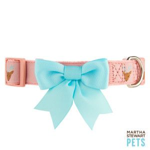 d8cc2eab0332cf2b2abe90ba14307167 martha stewart pets® holiday reindeer bow dog collar petsmart