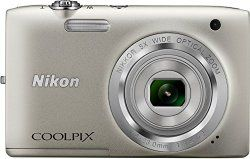 Nikon Coolpix S2800 20.1 MP Point & Shoot Digital Camera with 5X Optical Zoom International Version, Silver - This version is originally intended for sale outside the US and may contain adapters, manuals, and warranties not compatible with US standards. 20.1 megapixel CCD sensor 5x optical zoom lens (35mm equiv: 26-130mm) 2.7 inch 230k dot LCD screen 720p HD video recording.