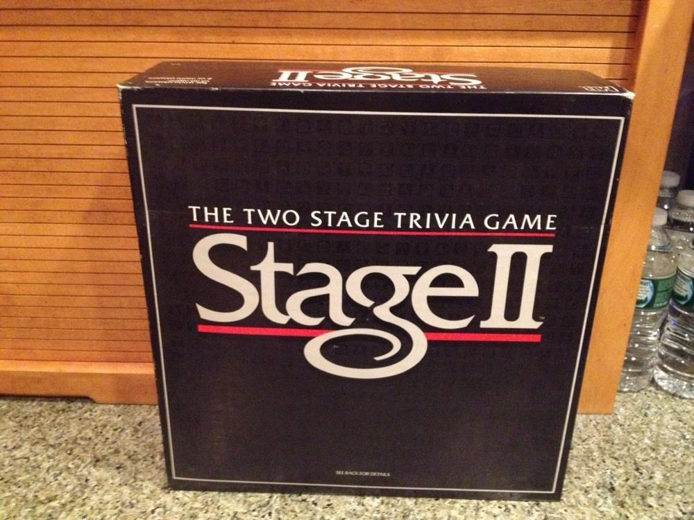Vintage 1985 Milton Bradley STAGE II Trivia Board Game. Complete. #MiltonBradley