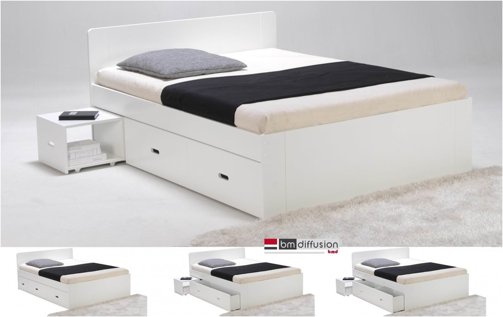 But Lit Deux Places 10 Pas Cher Lit Deux Places Blanc Meuble Bed Furniture Dan Bench