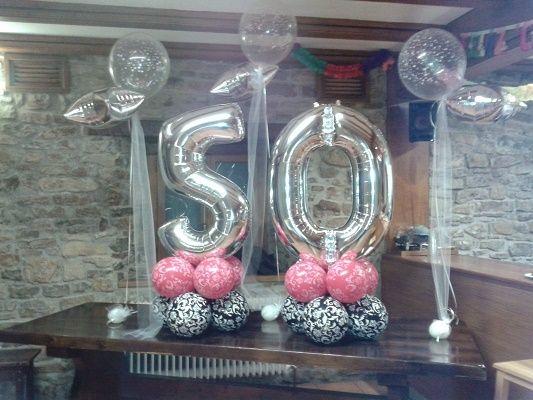 Decoracion de fiestas de cumplea os para mujeres de 50 a os perfil pinterest 50 a os - Decoracion con globos 50 anos ...