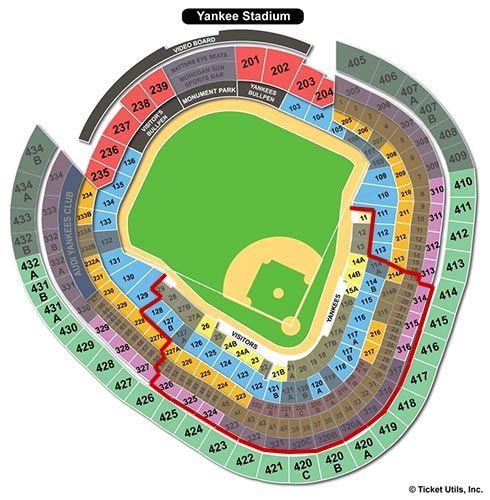 New York Yankees - Yankee Stadium Seating Chart | New York - John\'s ...