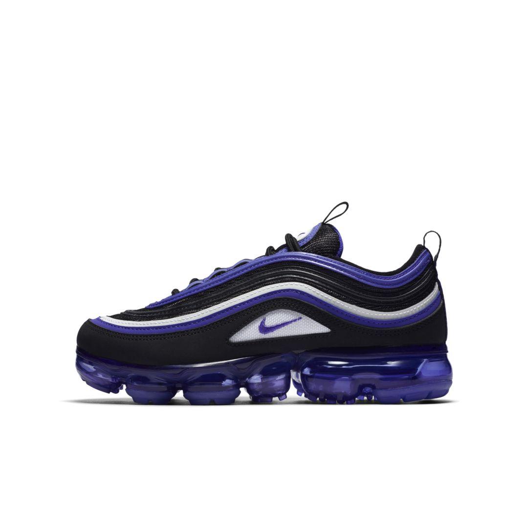 Nike Air VaporMax 97 Big Kids' Shoe Size 4.5Y (Black) | Kids