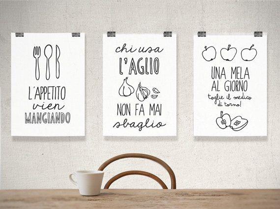 affiche de la cuisine italienne art cuisine print affiche italienne art italien citation. Black Bedroom Furniture Sets. Home Design Ideas
